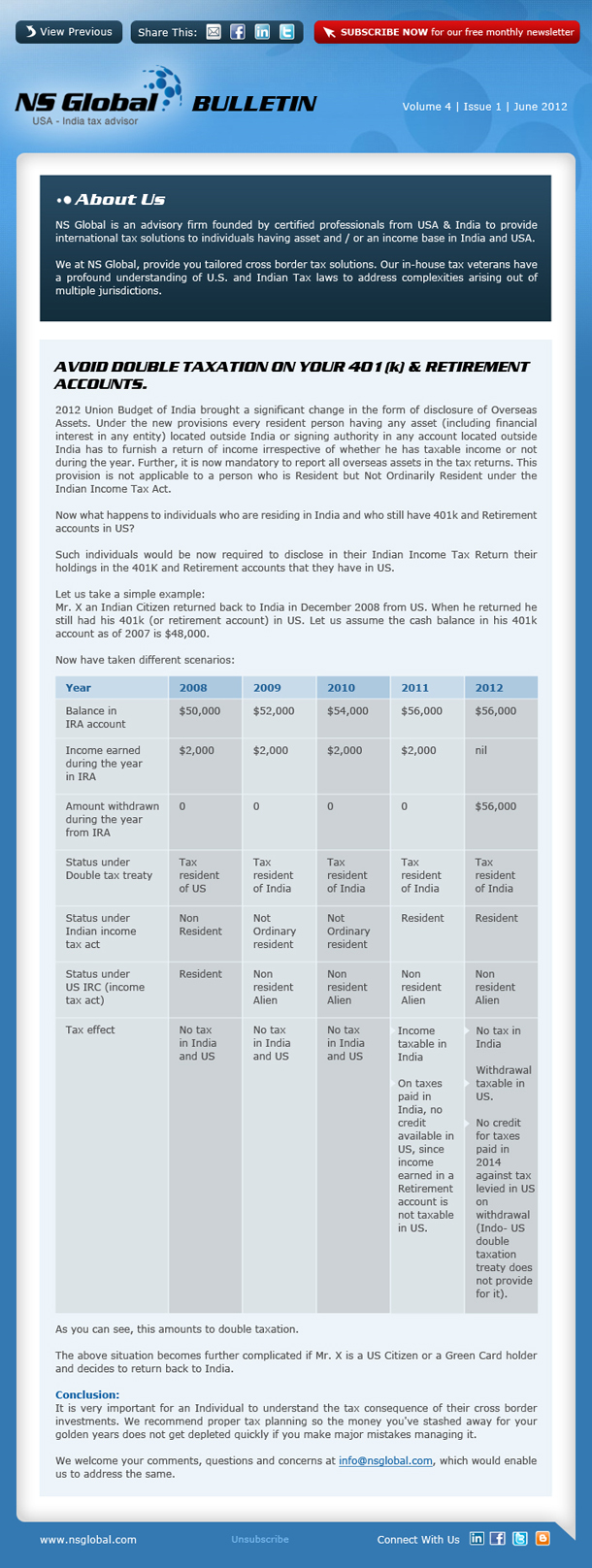 Newsletter - June 2012